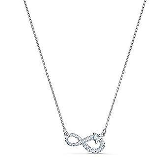 Swarovski Infinity halskæde, hvid, rhodium belagt(1)