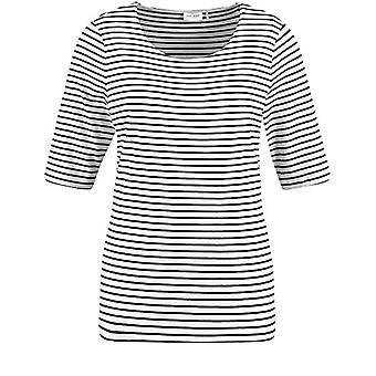 Gerry Weber T-Shirt 1/2 Arm, Ecru/White/Blue, 50 Woman(2)