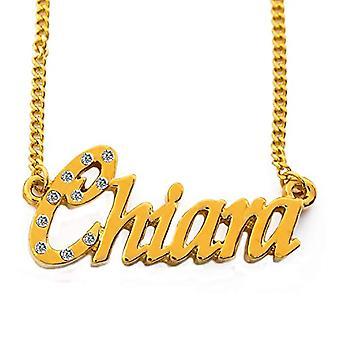 KL Kigu Chiara - Halskæde med navn, belagt med 18 karat guld, med navn, halskæde med brev, personlige smykker, Ref gave. 4963303147840