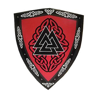 Wooden Medieval Valknut Viking Curved Shield SWE81