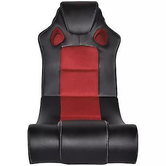 vidaXL muziekstoel zwart en rood kunstleer