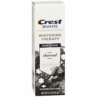 Crest Crest 3D White Whitening Therapy Fluoride Anticavity Toothpaste Deep Clean Invigorating Mint, 4.1 Oz