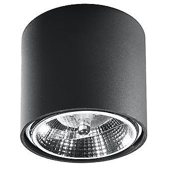 Downlights montados en superficie Round Flush Light Black GU10