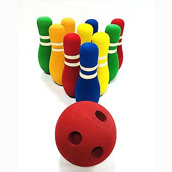 Homemiyn Children's Bowling Toy Set Toy Gifts For Kid Outdoor Indoor Fun Toys