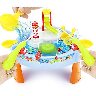 Novel Magnetic Electric Fishing Toys Table With Light Music Summer Water Toys Kids Toys