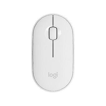 Trådlös Bluetooth Mouse Business Office Ultra thin Boys /girls söt bärbar mus| Möss(vita)