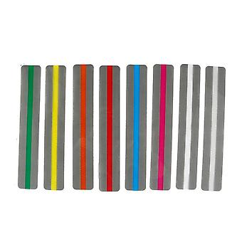 8 pcs/set Colorful Plastic Read Guide Bookmarks Portable Fluorescence PVC Reading Aid Highlight