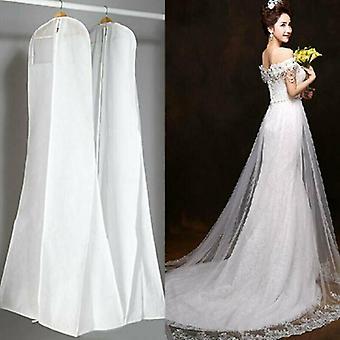 Large Wedding Long Dress Bridal Gown Garment Breathable Cover Storage Bag White