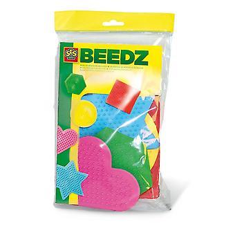 Ensemble de mosaïque Beedz Iron-on Beads Pegboards pour enfants, 5 pièces