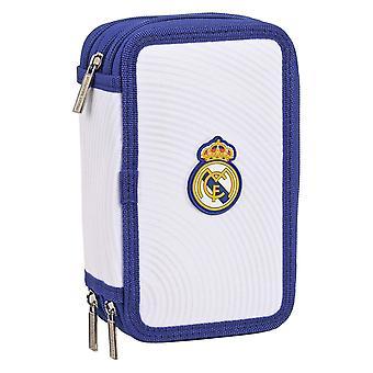Estuche Triple Lápiz Real Madrid C.F. Azul Blanco (36 Piezas)