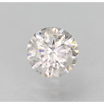 Sertifioitu 0,35 karat D Väri SI2 Pyöreä Brilliant Natural Loose Diamond 4,53mm