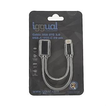 USB-C kábel OTG 3.0 iggual 20 cm