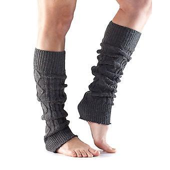 ToeSox Beinwärmer Knie hoch bereit Muskeln für Trainingsleistung - Kohle grau