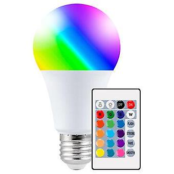 Ac-85-265v e27 led rgbw light bulb with remote control 4 dynamic lighting modes