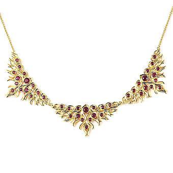 Lucy Q Rubin Halsband Halskette Vergoldet Silber Geschenk für Frau / Mutter 20 '' 10.23ct