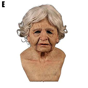 Hywell Adult Fun Mask Halloween Silicone Party Toy Horror Simulation X7t1
