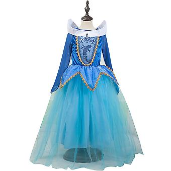 Princess Dress Rainbow Tulle Gown Birthday Kids Clothes