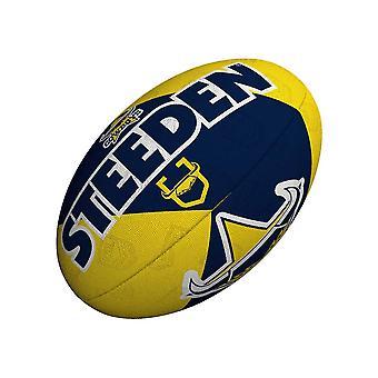 Steeden NRL North Queensland CowboysIn kannattaja 2021 Rugby Ball Sininen/Keltainen