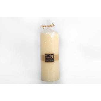 35X14CM LARGE HAND CRAFTED CHURCH 3 WICK WAX PILLAR CANDLE WHITE