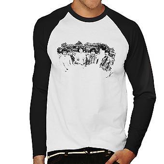 Pink Floyd Ruskin Park Shoot Floral 1967 Black And White Men's Baseball Long Sleeved T-Shirt