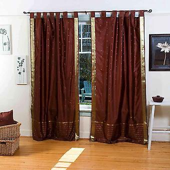 Scheda Top Sari pura tenda di Brown / drappo / pannello - pezzo