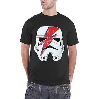 Official Mens Star Wars T Shirt Stormtrooper Glam Lightning Bolt logo new Black