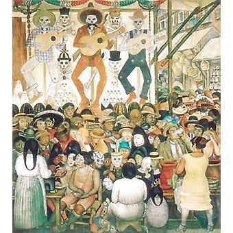 Dia De Muertos 1924 Poster Print von Diego Rivera (24 x 33)
