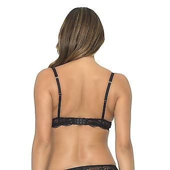Sapph 6040-120 Women's Thalia Black Lace Padded Underwired Push Up Bra