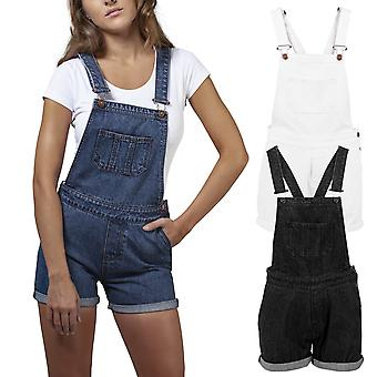 Urban classics ladies - short Dungaree denim Dungaree jeans
