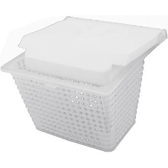 Jacuzzi 43-0785-00-R SV Series Pool Skimmer Basket with Weir - White
