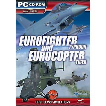 Eurofighter Typhoon and EuroCopter Tiger Add-On for Microsoft FSX and FS 2004 (PC CD) - As New