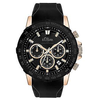 s.Oliver mannen horloge pols horloge siliconen SO-3491-PM