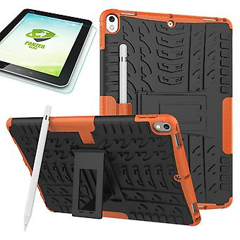 Hybrid outdoor protective case Orange for Apple iPad Pro 10.5 2017 bag + 0.4 H9 tempered glass