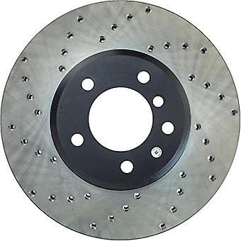 StopTech 128.34070R Sport Cross Drilled Brake Rotor (Front Right), 1 Pack