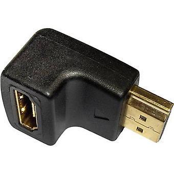 Inakustik HDMI Adapter [1 x HDMI-aansluiting - 1 x HDMI-socket] Black met goud beklede aansluitingen