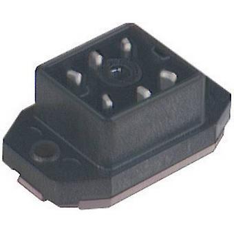 Hirschmann 932 918-100 gaan 60 FAV M gemonteerd Connector met flens en soldeer contacten zwart aantal pinnen: 6