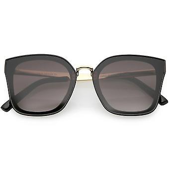 Pont d'Armas oversize métal nez lunettes de soleil Gradient objectif 58mm