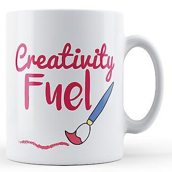 ¡Combustible de la creatividad! Pincel - taza impresa