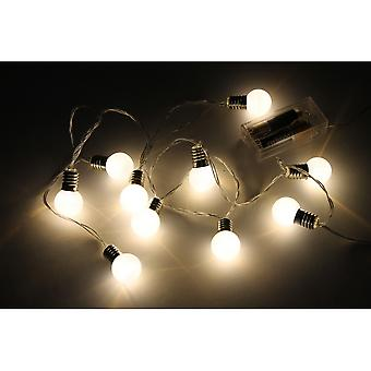 CGB Giftware Christmas Light Up White Bulb String