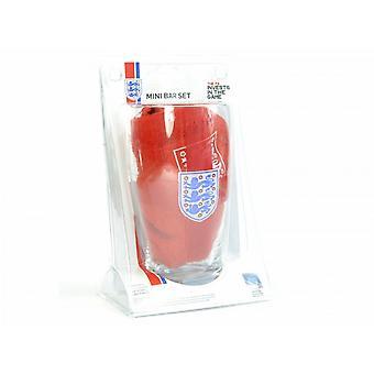 Engeland officiële Mini Bar ingesteld (van 1 Pint glazen, 4 bier matten & 1 Bar handdoek)