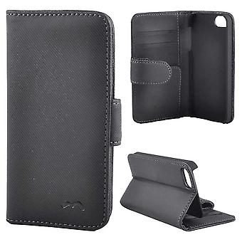 High quality Iphone 5/5s/SE wallet case, black