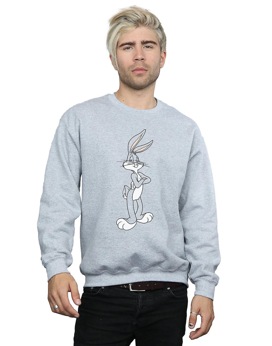 Looney Tunes Men's Bugs Bunny Crossed Arms Sweatshirt