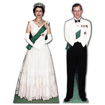 Queen Elizabeth II and Prince Philip - Lifesize Cardboard Cutout / Standee  Set - Diamond Jubilee 2012
