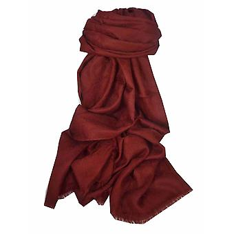 Finest Cashmere Damask Weave Ring Stole in Burgundy by Pashmina & Silk