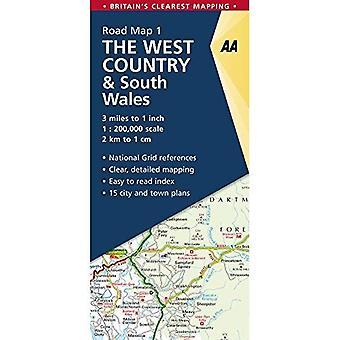 West Country idealna Mapa drogowa Warmińsko-Mazurskie