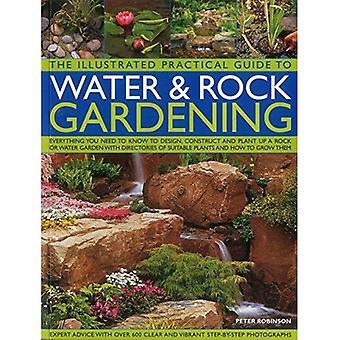 Het geïllustreerde Practical Guide to Water & Rock tuinieren