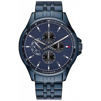 Tommy Hilfiger Brazalete Azul Shawn de Hombres's Reloj 1791618