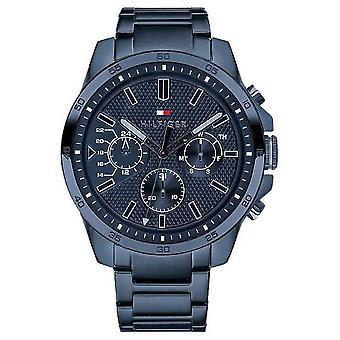 Tommy Hilfiger miesten ' s sininen PVD päällystetty Multi Function 1791560 Watch