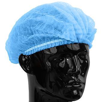 100 x gewoon Direct blauwe Mop Caps / Caps geleverd In een hersluitbare zak Clip