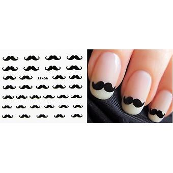 5 pcs feuille Moustache ongles auto-adhésif décorations